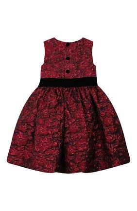 Детское платье OSCAR DE LA RENTA красного цвета, арт. 19FGN606FD | Фото 2