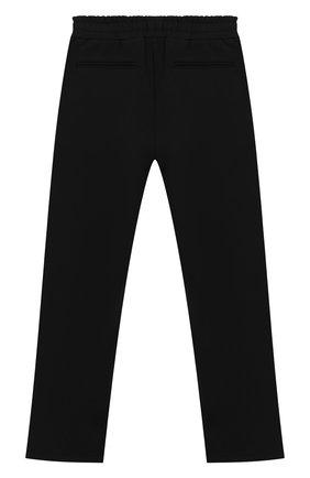 Детские хлопковые брюки DSQUARED2 черного цвета, арт. DQ03NS-D00V3   Фото 2