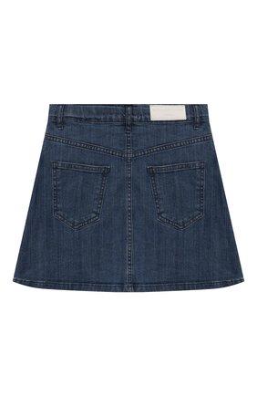 Детская джинсовая юбка SONIA RYKIEL ENFANT синего цвета, арт. 19W1SK01   Фото 2
