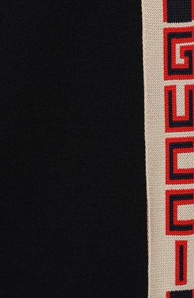 Детские хлопковые джоггеры с лампасами GUCCI синего цвета, арт. 497950/X9L52 | Фото 3 (Мальчики Кросс-КТ: Брюки-спорт; Материал внешний: Хлопок; Статус проверки: Проверено, Проверена категория; Ростовка одежда: 10 - 11 лет | 140 - 146см, 12 лет | 152 см, 4 года | 104 см, 5 лет | 110 см, 6 лет | 116 см, 8 лет | 128 см)