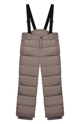 Детский пуховые брюки HERNO бежевого цвета, арт. PI0061B/12004/4A-8A | Фото 1