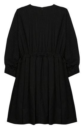 Детское платье из смеси шерсти и хлопка UNLABEL черного цвета, арт. Y0K0-2/09-IN105/12A-16A | Фото 2