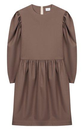 Детское платье из вискозы UNLABEL светло-коричневого цвета, арт. AIRI-2/16-IN108/12A-16A | Фото 1
