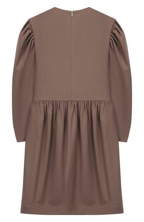 Детское платье из вискозы UNLABEL светло-коричневого цвета, арт. AIRI-2/16-IN108/12A-16A | Фото 2