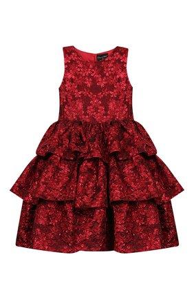 Детское платье OSCAR DE LA RENTA красного цвета, арт. 19FGN604FM | Фото 1