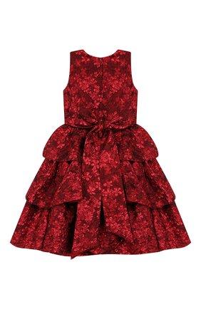 Детское платье OSCAR DE LA RENTA красного цвета, арт. 19FGN604FM | Фото 2