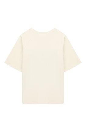 Детская хлопковая футболка GUCCI кремвого цвета, арт. 587687/XJBDA | Фото 2