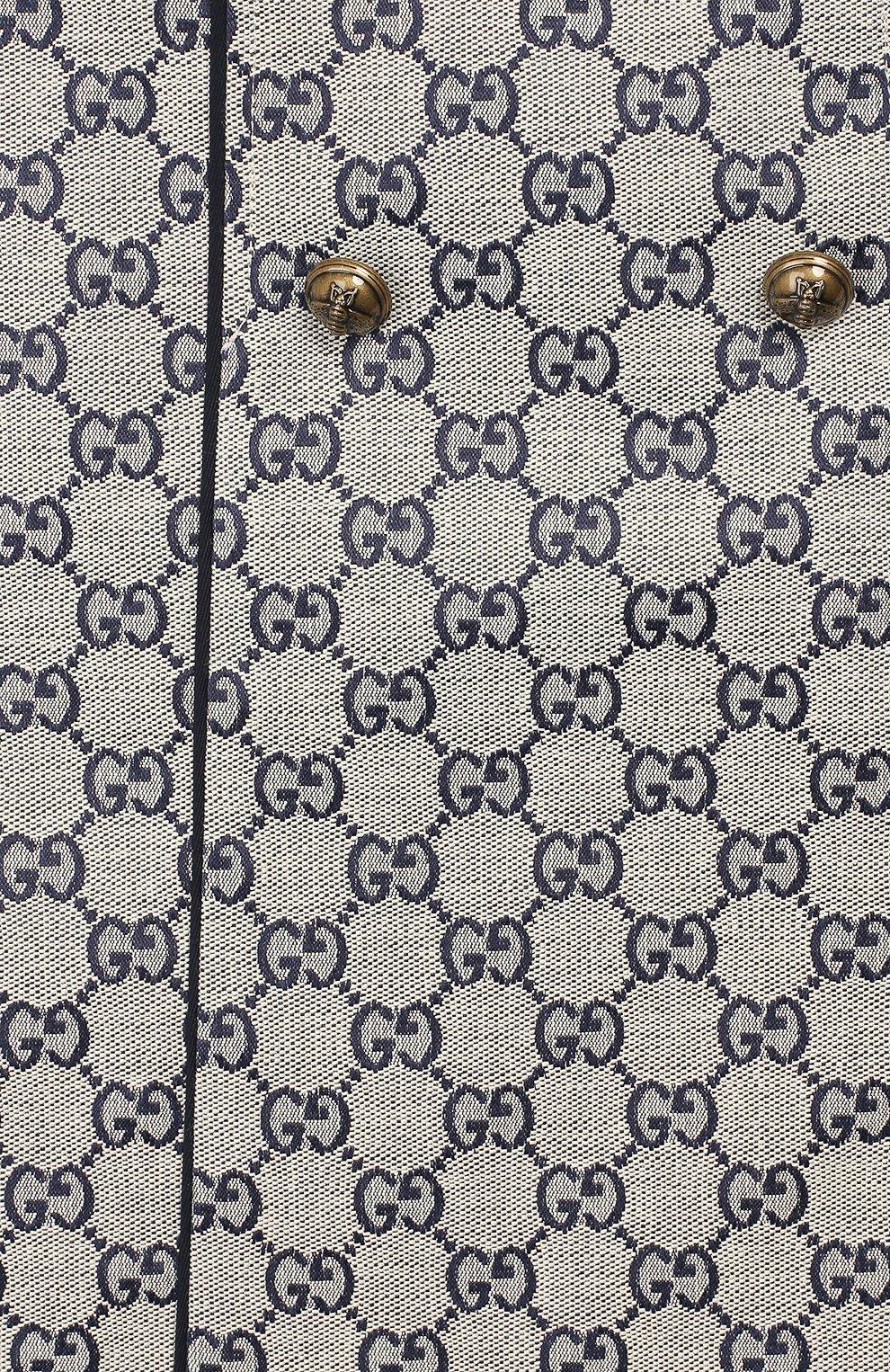 Детская хлопковая юбка GUCCI бежевого цвета, арт. 571293/XWAE2 | Фото 3 (Случай: Повседневный; Материал внешний: Хлопок; Статус проверки: Проверено, Проверена категория)