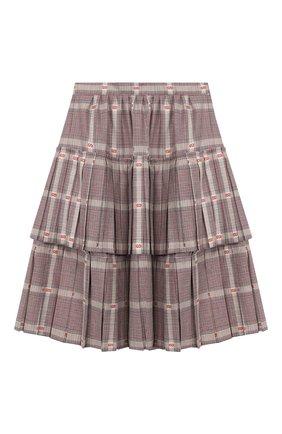 Детская юбка из смеси шерсти и вискозы GUCCI разноцветного цвета, арт. 570968/ZB418 | Фото 1