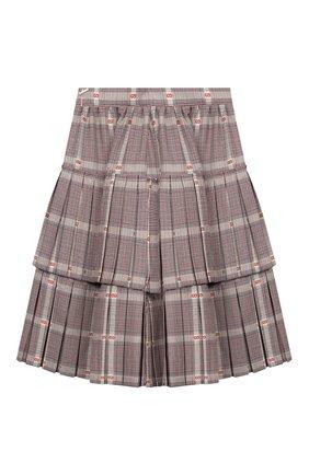 Детская юбка из смеси шерсти и вискозы GUCCI разноцветного цвета, арт. 570968/ZB418 | Фото 2