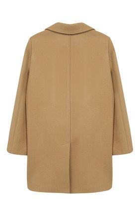Детское шерстяное пальто GUCCI бежевого цвета, арт. 516372/XB825 | Фото 2