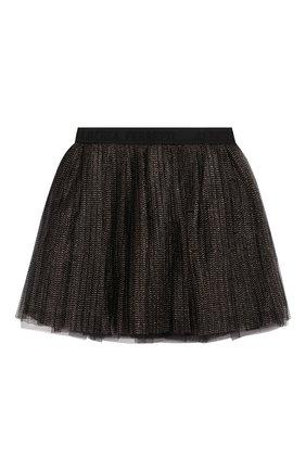 Детская юбка ALBERTA FERRETTI JUNIOR черного цвета, арт. 021347 | Фото 1