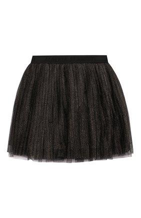 Детская юбка ALBERTA FERRETTI JUNIOR черного цвета, арт. 021347 | Фото 2