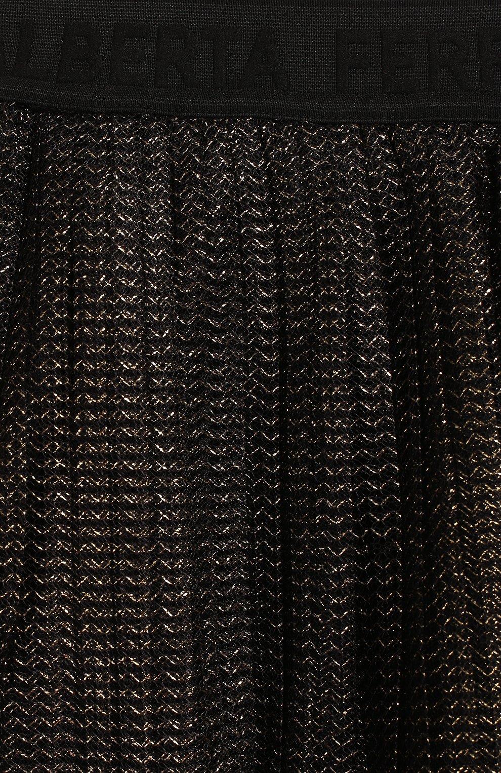 Детская юбка ALBERTA FERRETTI JUNIOR черного цвета, арт. 021347 | Фото 3 (Случай: Повседневный; Материал внешний: Синтетический материал, Металлизированное волокно; Материал подклада: Хлопок; Ростовка одежда: 10 - 11 лет | 140 - 146см, 12 лет | 152 см, 13 - 15 лет | 158 см, 6 лет | 116 см, 8 лет | 128 см)