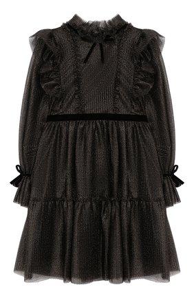 Детское платье ALBERTA FERRETTI JUNIOR черного цвета, арт. 021346 | Фото 1