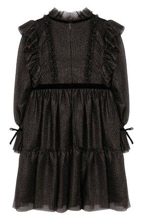 Детское платье ALBERTA FERRETTI JUNIOR черного цвета, арт. 021346 | Фото 2