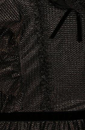 Детское платье ALBERTA FERRETTI JUNIOR черного цвета, арт. 021346 | Фото 3 (Рукава: Длинные; Материал внешний: Синтетический материал, Металлизированное волокно; Статус проверки: Проверено; Материал подклада: Хлопок; Ростовка одежда: 10 - 11 лет | 140 - 146см, 12 лет | 152 см, 13 - 15 лет | 158 см, 6 лет | 116 см, 8 лет | 128 см)
