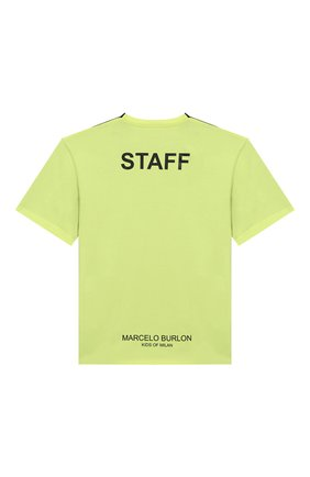 Детская хлопковая футболка MARCELO BURLON KIDS OF MILAN черного цвета, арт. B/MB/1103/0010/8-14Y | Фото 2