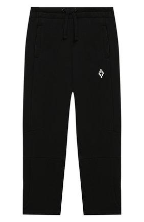 Детские хлопковые брюки MARCELO BURLON KIDS OF MILAN черного цвета, арт. B/MB/3005/0020/6Y   Фото 1