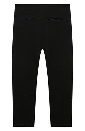 Детские хлопковые брюки MARCELO BURLON KIDS OF MILAN черного цвета, арт. B/MB/3005/0020/6Y   Фото 2