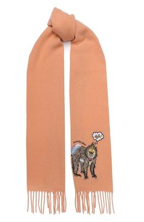 Мужские шерстяной шарф ACNE STUDIOS розового цвета, арт. CA0021/W | Фото 1