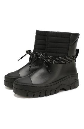 Женские кожаные ботинки GANNI черного цвета, арт. S1023 | Фото 1