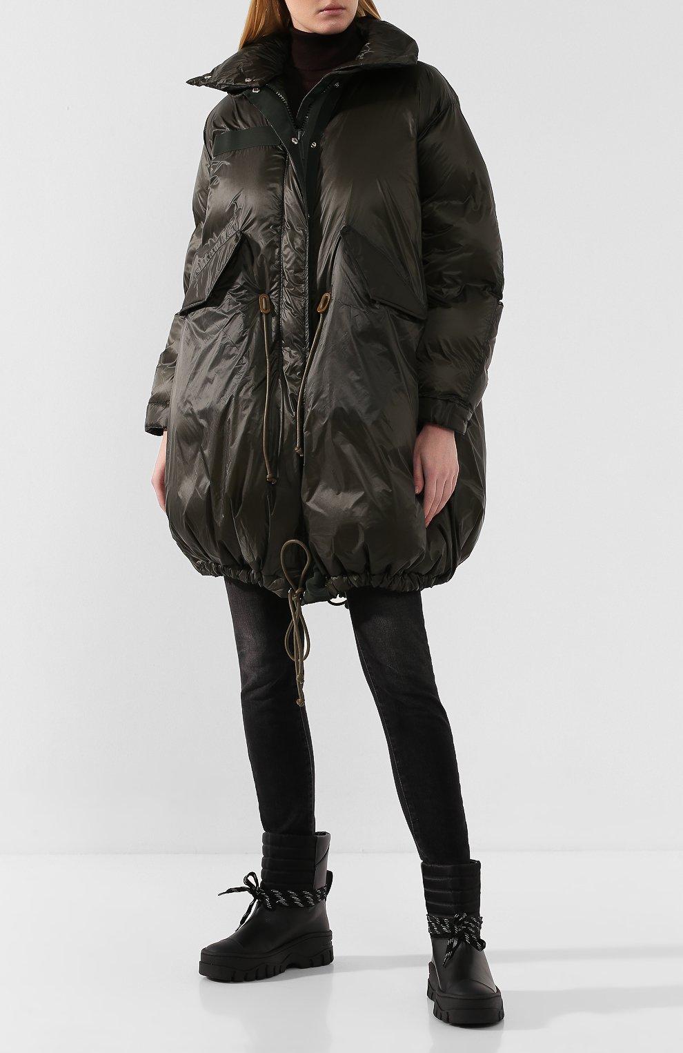 Женские кожаные ботинки GANNI черного цвета, арт. S1023 | Фото 2