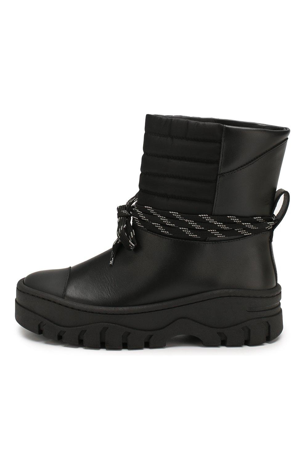 Женские кожаные ботинки GANNI черного цвета, арт. S1023 | Фото 3