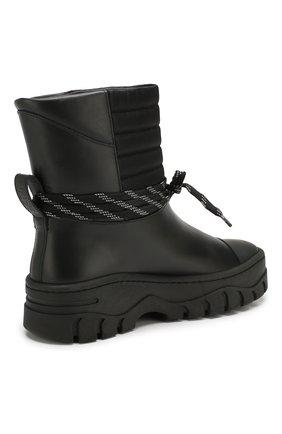 Женские кожаные ботинки GANNI черного цвета, арт. S1023 | Фото 4