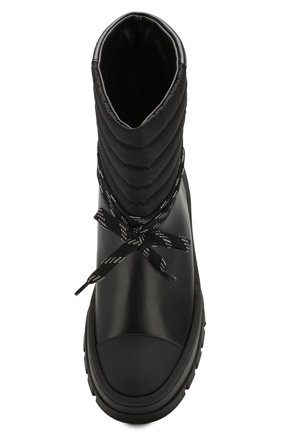 Женские кожаные ботинки GANNI черного цвета, арт. S1023 | Фото 5