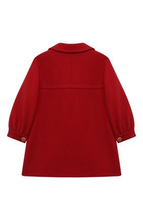 Детское шерстяное пальто GUCCI красного цвета, арт. 571257/XWAFZ | Фото 2