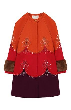 Детское шерстяное пальто GUCCI красного цвета, арт. 570971/ZAB8J | Фото 1