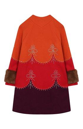 Детское шерстяное пальто GUCCI красного цвета, арт. 570971/ZAB8J | Фото 2
