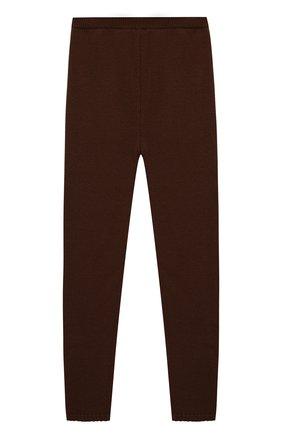 Детского шерстяные брюки CASILDA Y JIMENA коричневого цвета, арт. 755514199/6-8A   Фото 1