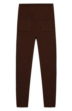Детского шерстяные брюки CASILDA Y JIMENA коричневого цвета, арт. 755514199/6-8A   Фото 2