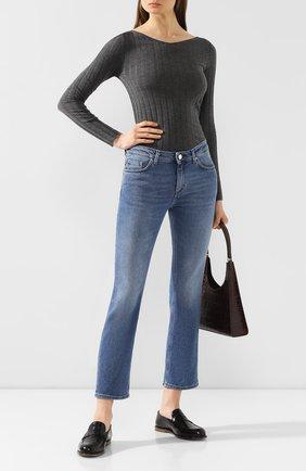 Женские джинсы TOTÊME голубого цвета, арт. STRAIGHT DENIM 32 193-233-741 | Фото 2