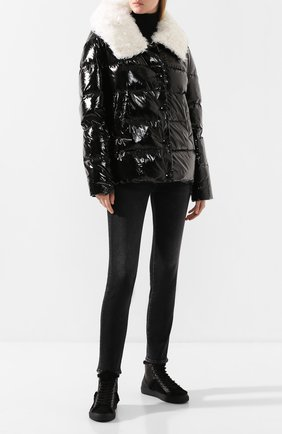 Женский пуховая куртка YS ARMY PARIS черно-белого цвета, арт. 20WFYV08070KANY | Фото 2