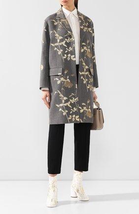 Женское пальто DRIES VAN NOTEN серого цвета, арт. 192-10278-8362 | Фото 2