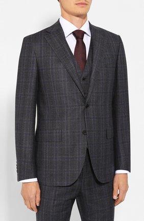 Мужской шерстяной костюм-тройка CORNELIANI серого цвета, арт. 848268-9817301/92 Q1 | Фото 2