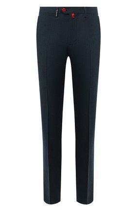 Мужской шерстяные брюки KITON зеленого цвета, арт. UFPP79K01S28 | Фото 1