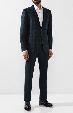 Мужской шерстяные брюки KITON зеленого цвета, арт. UFPP79K01S28 | Фото 2