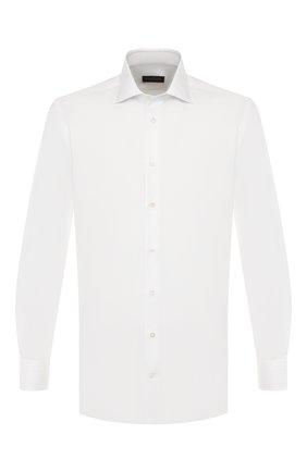 Мужская хлопковая сорочка LUCIANO BARBERA белого цвета, арт. 105469/71009 | Фото 1
