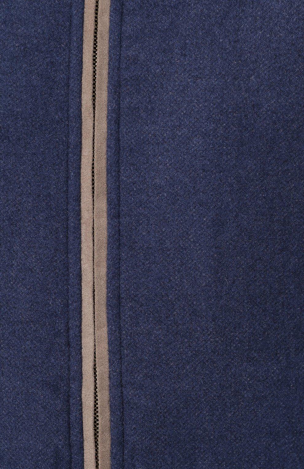 Мужской спортивный костюм из смеси шелка и кашемира ANDREA CAMPAGNA синего цвета, арт. 7MT08.AG00.CAMPAGNA. | Фото 6