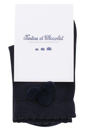 Детские хлопковые носки TARTINE ET CHOCOLAT темно-синего цвета, арт. TP93031 | Фото 1