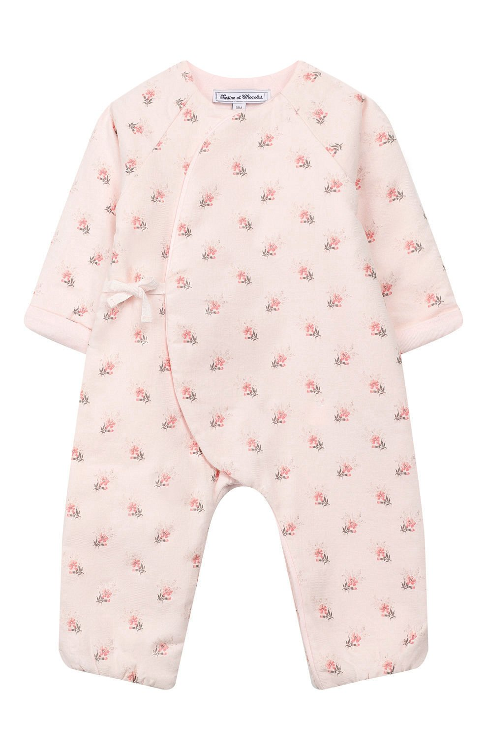 Детский хлопковый комбинезон TARTINE ET CHOCOLAT светло-розового цвета, арт. TP32011/18M-3A | Фото 1