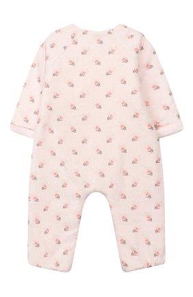 Детский хлопковый комбинезон TARTINE ET CHOCOLAT светло-розового цвета, арт. TP32011/18M-3A | Фото 2