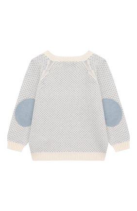 Детский кашемировый пуловер LORO PIANA голубого цвета, арт. FAI6023 | Фото 2