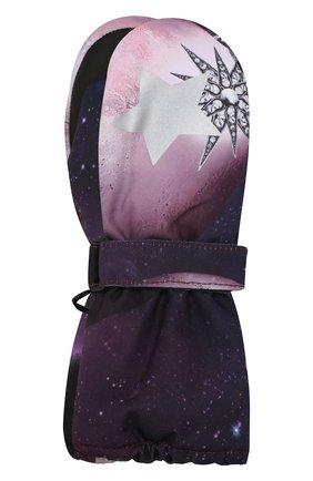 Детские варежки MOLO фиолетового цвета, арт. 7W19S104 | Фото 1