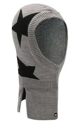 Детского шапка-балаклава MOLO серого цвета, арт. 7W19S401 | Фото 1