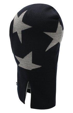 Детского шапка-балаклава MOLO черного цвета, арт. 7W19S401 | Фото 2